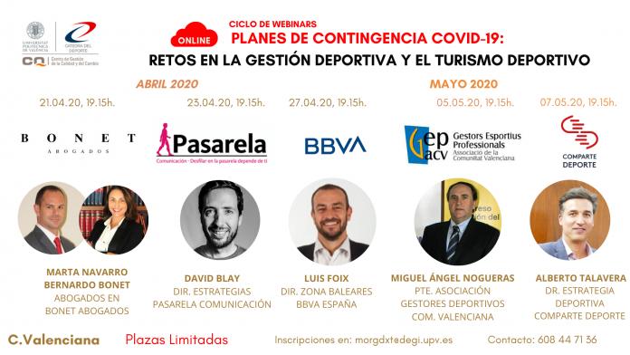 Webinars Catedra del Deporte UPV